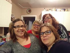 My mom, sisters and I