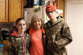 My gramma with Samantha and Justin